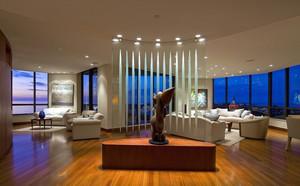 前卫时尚大户型客厅屏风隔断设计效果图