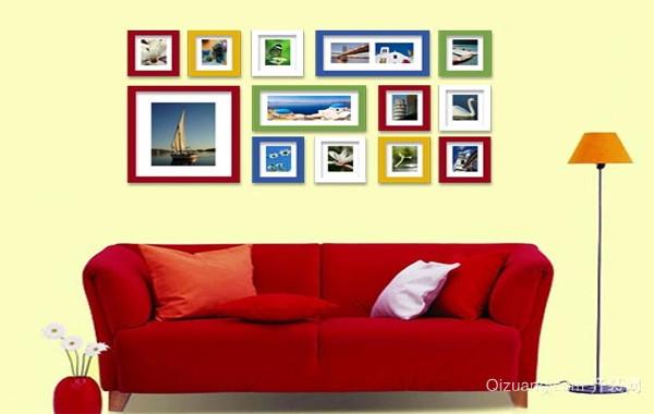 复式楼精致型照片墙设计效果图