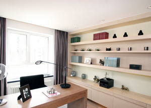 2016精致的温馨大户型家居书房设计装修效果图