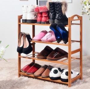 简约女神公寓家用实木鞋架装图片