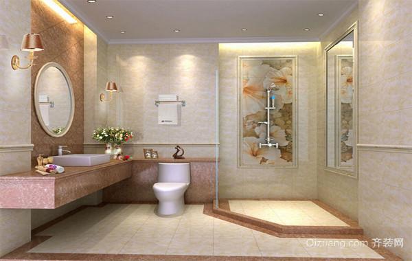 90平米欧式大户型马可波罗瓷砖卫生间装修效果图片