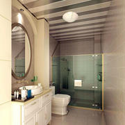 128平米淡色调卫生间装修效果图