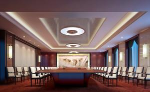 奢华大型中国企业会议室装修布置效果图