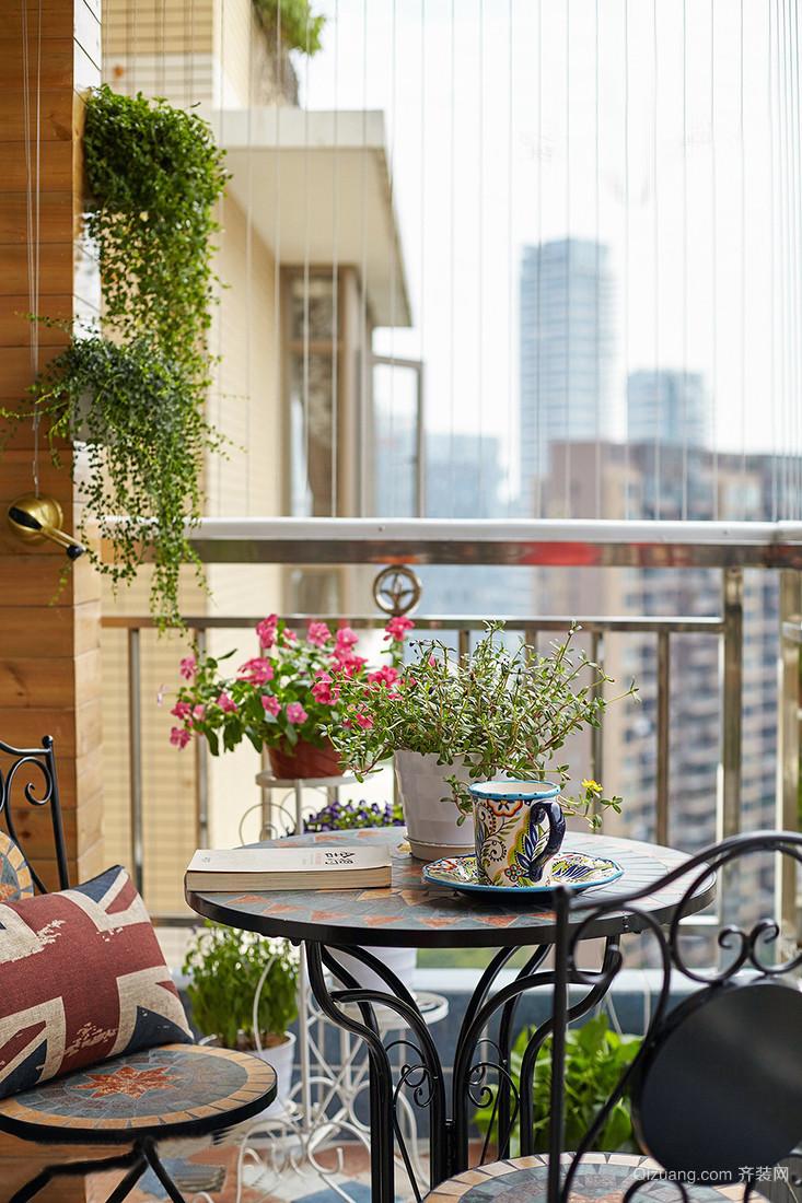 怀柔风情现代简约8平米小型阳台装修效果图