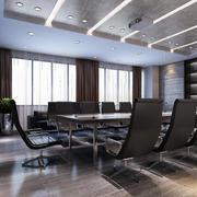 中性冷色调现代会议室装修布置效果图