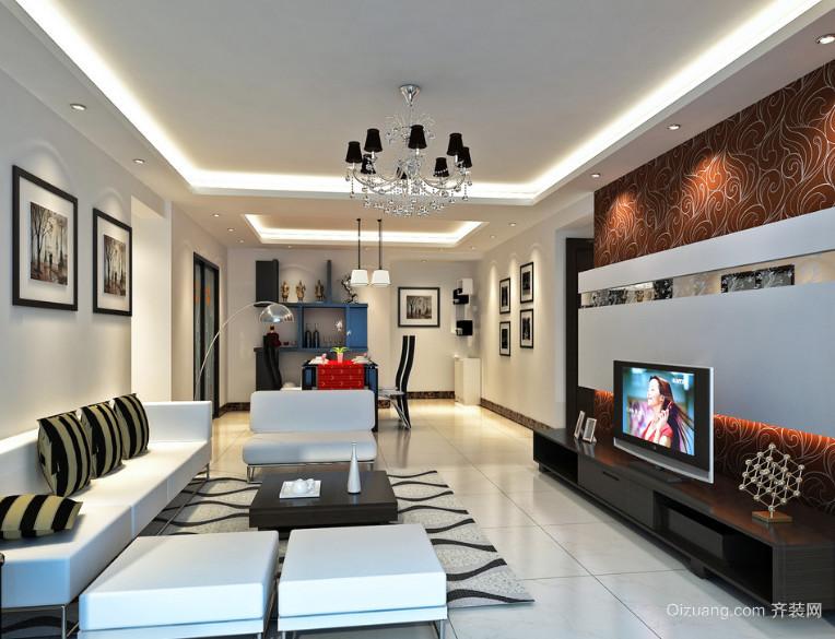 2016经典的现代欧式小户型室内装修效果图