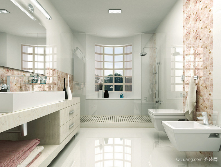90平米大户型欧式卫生间装修效果图欣赏