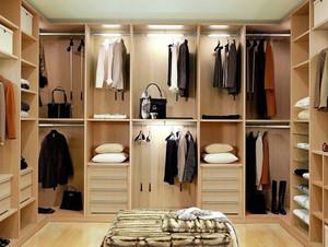 别墅时尚风格步入式衣帽间装修效果图
