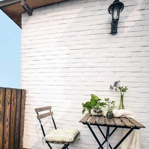 8平米唯美美式复式楼小型阳台装修效果图