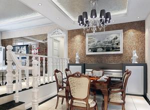2016大户型简欧风格室内餐厅装修效果图大全