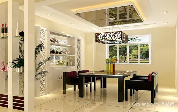 110平米大户型欧式现代家装餐厅背景墙装修效果图