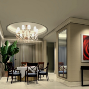 大户型唯美的时尚现代简约餐厅装修效果图