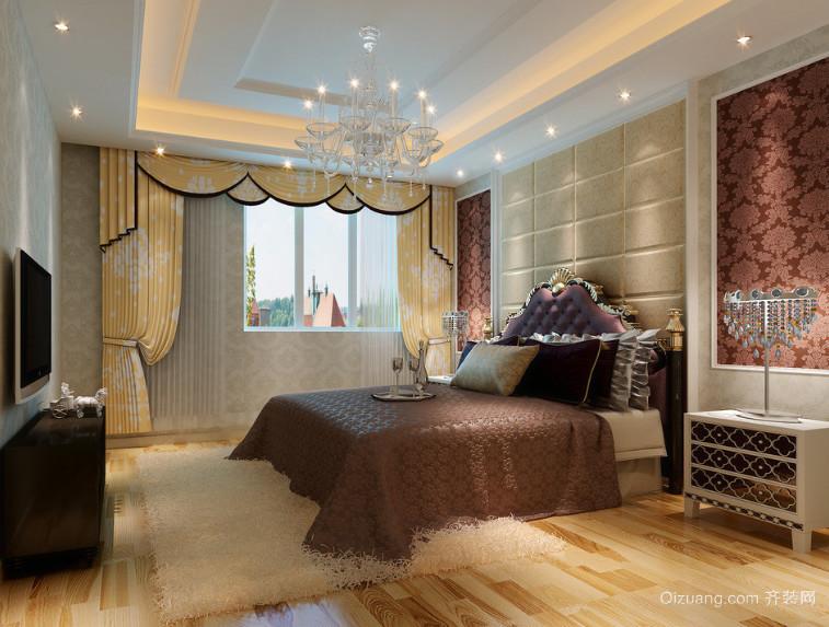 90平米大户型精致的简欧风格卧室装修效果图