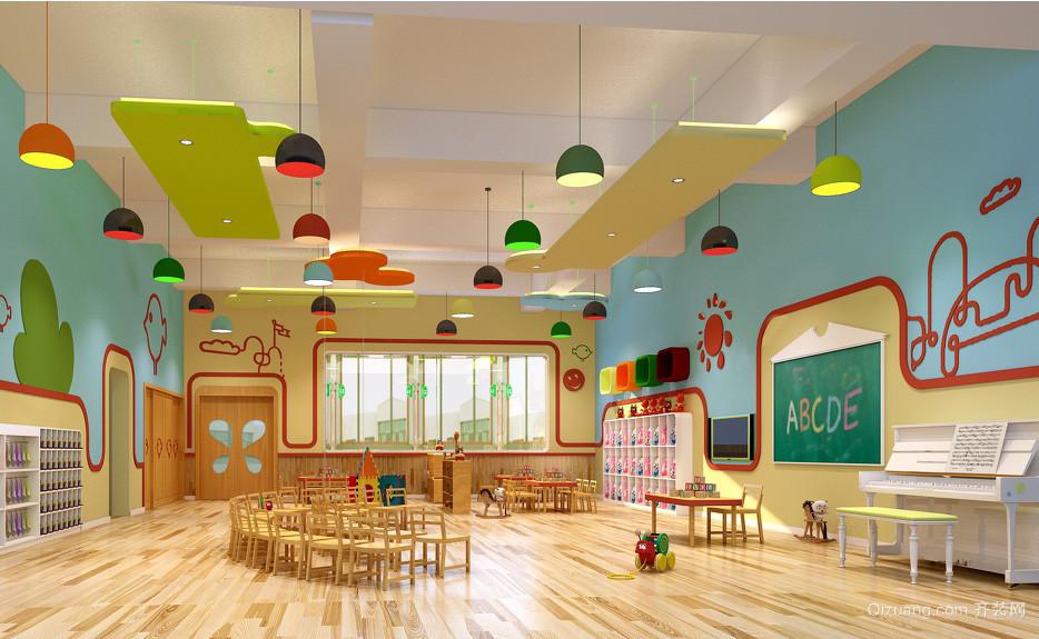 都市大户型幼儿园欢快班级教室布置图片