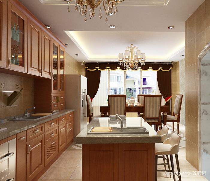 2016精致的简欧风格大户型家庭厨房装修效果图