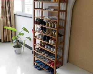 便利三室一厅家用实木鞋架装修图片