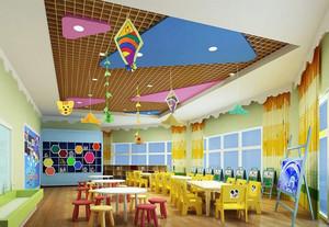 现代高级幼儿园彩色班级教室布置图片