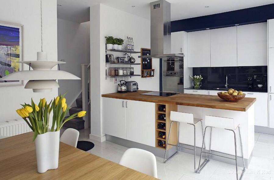 北欧风格开放式小厨房装修设计效果图