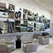 现代照片墙整体设计