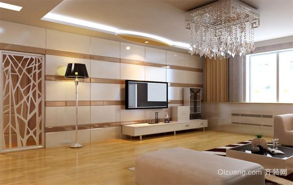 2016完美欧式大户型家装客厅电视墙装修效果图