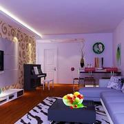 紫色调两房一厅图片