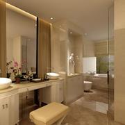 别墅清爽系列卫生间装修效果图