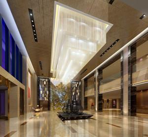 2016都市简约酒店大堂吊灯设计效果图