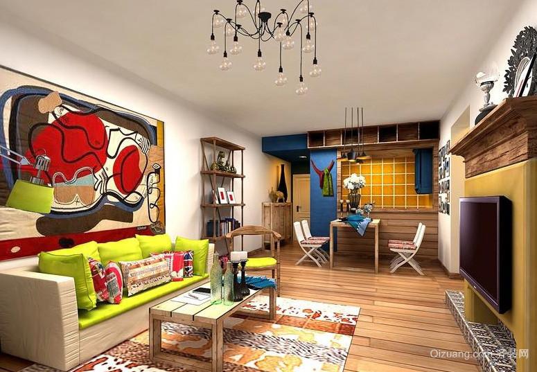 混搭风格50平米小户型家装客厅案例