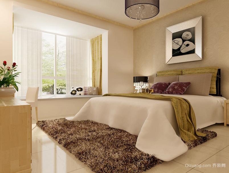 精美独特的欧式单身公寓卧室装修效果图