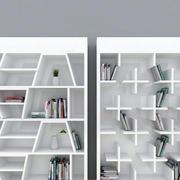白色调书柜设计大全