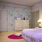 108平米色彩鲜艳液体壁纸装修效果图片