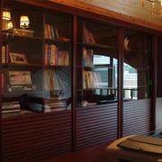 深色调书柜设计大全