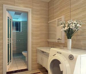 简约100平米家居卫生间艺术玻璃门装修图