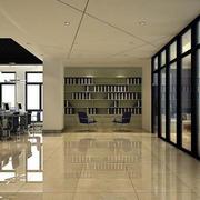 现代都市写字楼办公室装潢设计效果图