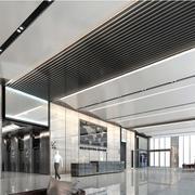 5A级大型写字楼大堂装潢设计效果图