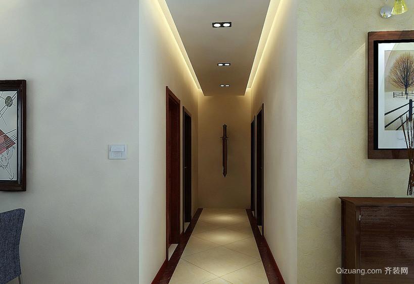 都市三居室家庭走廊吊顶装修效果图