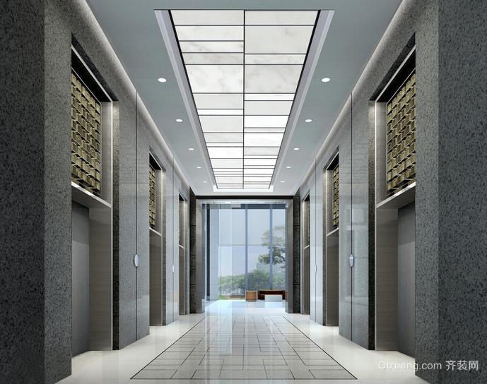 大气现代写字楼电梯装潢设计效果图