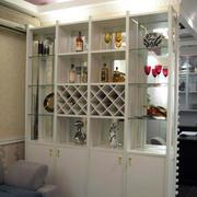 清新风格酒柜设计图片