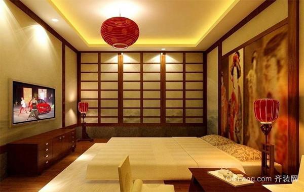 2016经典舒适的大户型日式榻榻米卧室装修效果图