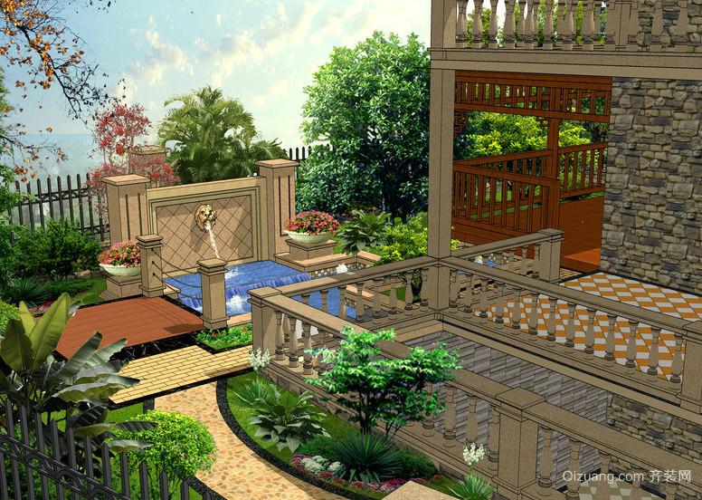 2016精美欧式别墅别墅设计装修效果图v别墅-齐装饰顶级庭院图片