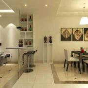 138平米家用型吧台设计装修效果图