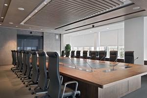 上市公司高档会议室装修效果图