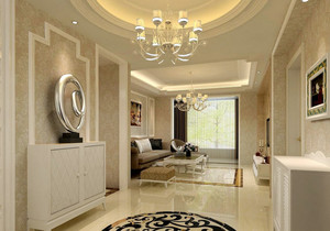 简欧风格三室一厅装饰柜装修效果图