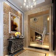 2016复式楼欧式玄关装饰柜装修效果图