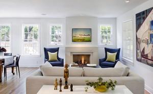 北欧风格113平米家居客厅装修效果图