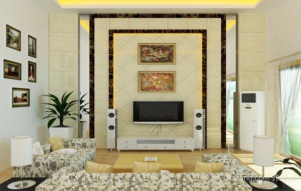 120平米大户型欧式客厅电视背景墙装修效果图欣赏