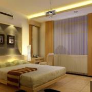 新奇的现代欧式大户型卧室床头背景墙装修效果图