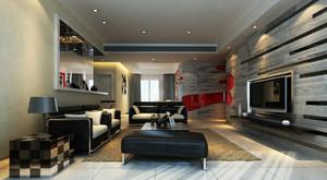 精致个性120平米家居客厅装修效果图
