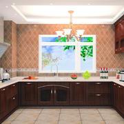 唯美厨房背景墙壁纸图