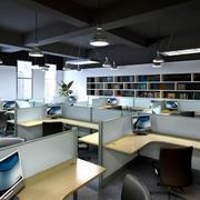 写字楼小型企业办公桌装潢设计效果图